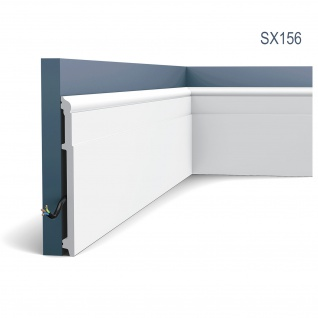 Stuck Sockelleiste Orac Decor SX156 LUXXUS Profilleiste Zierleiste Kabelschutz Bodenleiste stabil stoßfest 2 Meter