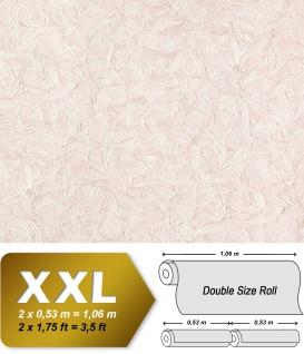 Struktur Tapete EDEM 9086-24 heißgeprägte Vliestapete geprägt unifarben schimmernd weiß hell-rosa 10, 65 m2