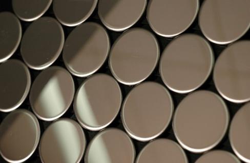 Mosaik Fliese massiv Metall Edelstahl hochglänzend in grau 1, 6mm stark ALLOY Penny-S-S-M 0, 88 m2 - Vorschau 4