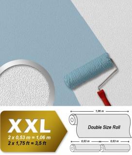 Überstreichbare Tapete EDEM 377-60 Struktur Vliestapete XXL Decken Wand Tapete feine Struktur über-streichbare weiß 26, 50 qm