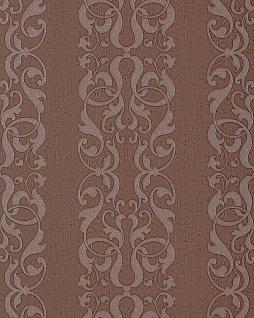 Barock-Tapete EDEM 829-26 exklusive geprägte Tapete dekorative Streifen Damast-Muster schoko-braun Perlmutt-Effekt 70 cm