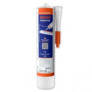 Montagekleber für Stuckprofile Profhome G06M290 starker wasserbasierter Acrylkleber für Innenmontage weiß 290 ml