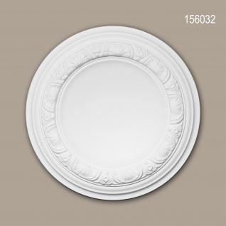 Rosette PROFHOME 156032 Zierelement Deckenelement Neo-Renaissance-Stil weiß Ø 32, 0 cm