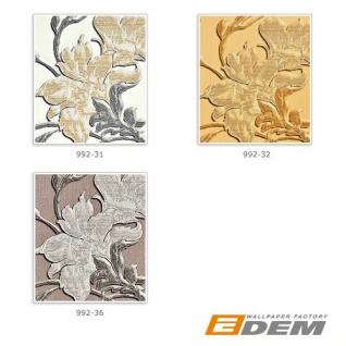 Blumen Tapete XXL Vliestapete EDEM 992-31 Florales Muster geprägte Struktur Luxus Design Tapete creme gold grau 10, 65 m2 - Vorschau 4