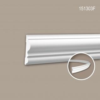 Wand- und Friesleiste PROFHOME 151303F Stuckleiste Flexible Leiste Zierleiste Neo-Klassizismus-Stil weiß 2 m