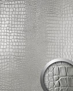 Wandpaneel 3D WallFace 13800 CROCONOVA Luxus Leder Blickfang Dekor Verkleidung selbstklebende Tapete platin | 2, 60 qm