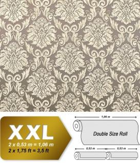 Barock Tapete EDEM 9014-32 Vliestapete geprägt mit Ornamenten glänzend beige creme-weiß bronze 10, 65 m2
