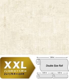 Spachtel Putz Tapete EDEM 9093-10 heißgeprägte Vliestapete geprägt im Shabby Chic Stil glänzend creme weiß 10, 65 m2