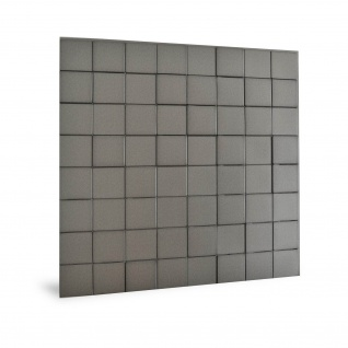 Wandpaneel 3D Profhome 3D 705258 Harmony Cubes Smoked Gray Dekorpaneel glatt in Kunststoff Optik glänzend grau 2, 2 m2