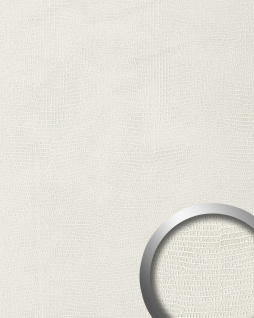 Wandpaneel Leder WallFace 15610 LEGUAN Blickfang 3D Dekor selbstklebende Tapete Wandplatte Wand Dekor Wandtattoos Wanddekoration Wandverkleidung Wandaufkleber weiß 2, 60 qm Wandpaneele Wandverkleidung Deckenpaneele Platten Paneele