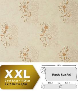Vliestapete Blumen Tapete EDEM 926-34 Antique Spachtel Floral Luxus Vlies-Tapete geprägte beige bronze 10, 65 qm - Vorschau 1
