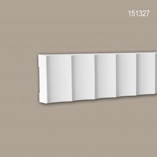 Wand- und Friesleiste PROFHOME 151327 Stuckleiste Zierleiste Wandleiste Modernes Design weiß 2 m