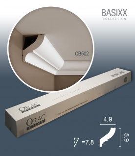 Orac Decor CB502 BASIXX 1 Karton SET mit 22 Stuckleisten | 44 m