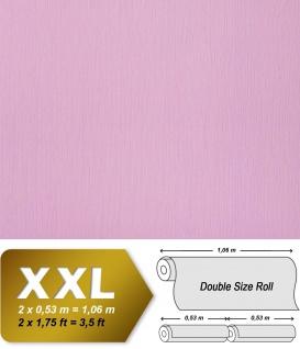 Uni Vliestapete EDEM 901-14 Tapete in XXL geprägte Stuktur Stoff Textiloptik Hell-violett rosa 10, 65 qm