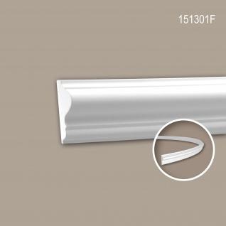 Wand- und Friesleiste PROFHOME 151301F Stuckleiste Flexible Leiste Zierleiste Neo-Klassizismus-Stil weiß 2 m