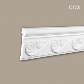 Wand- und Friesleiste PROFHOME 151350 Stuckleiste Zierleiste Wandleiste Neo-Empire-Stil weiß 2 m