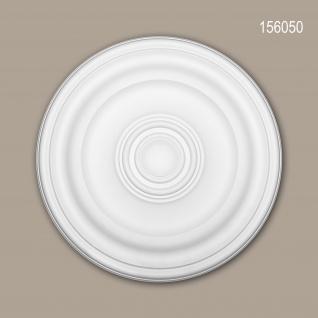 Rosette PROFHOME 156050 Zierelement Deckenelement Zeitloses Klassisches Design weiß Ø 40, 4 cm