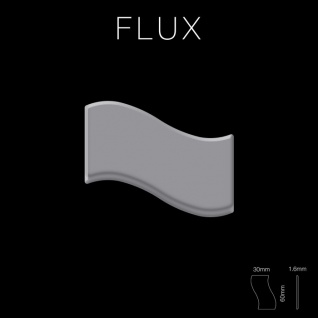 Mosaik Fliese massiv Metall Edelstahl matt in grau 1, 6mm stark ALLOY Flux-S-S-MA Designed by Karim Rashid 0, 86 m2 - Vorschau 2