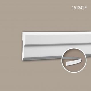 Wand- und Friesleiste PROFHOME 151342F Stuckleiste Flexible Leiste Zierleiste Modernes Design weiß 2 m