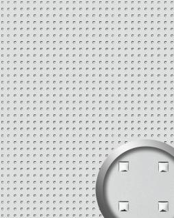 Wandpaneel Wandplatte WallFace 10053 3D QUAD Quadrat Dekor Design selbstklebend silber 2, 60 qm