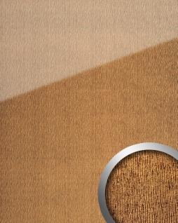 Wandpaneel Glas-Optik WallFace 20214 CURVED Gold AR+ Wandverkleidung glatt in Leder-Optik spiegelnd selbstklebend abriebfest gold gold-braun 2, 6 m2
