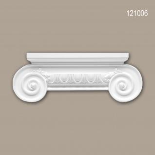 Pilaster Kapitell PROFHOME 121006 Zierelement Ionischer Stil weiß