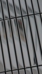 Mosaik Fliese massiv Metall Edelstahl hochglänzend in grau 1, 6mm stark ALLOY Linear-S-S-M 0, 94 m2 - Vorschau 4
