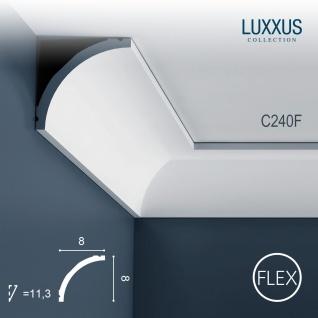 Stuckleiste Orac Decor C240F LUXXUS flexible Eckleiste Zierleiste Decken Stuck Dekor Profil Gesims Dekorleiste 2 Meter