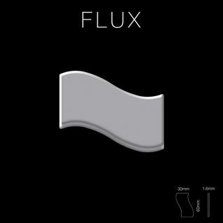 Mosaik Fliese massiv Metall Edelstahl marine hochglänzend in grau 1, 6mm stark ALLOY Flux-S-S-MM Designed by Karim Rashid 0, 86 m2 - Vorschau 2