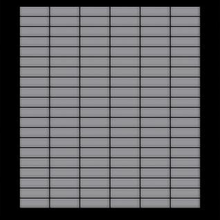 Mosaik Fliese massiv Metall Edelstahl matt in grau 1, 6mm stark ALLOY Cabin-S-S-MA 1, 01 m2 - Vorschau 3
