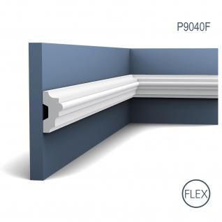 Wandleiste Stuck Orac Decor P9040F LUXXUS flexible Friesleiste Rahmen Dekor Profil Leiste Zierleiste stoßfest | 2 Meter