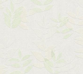 Natur Tapete Profhome 372612-GU Vliestapete leicht strukturiert mit floralen Ornamenten matt grün beige grau 5, 33 m2