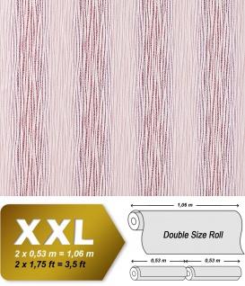 Streifen Tapete Vliestapete EDEM 675-93 XXL Design Vlies-Tapete dekorative Streifen-Struktur hell-rosa pink weiß 10, 65 qm