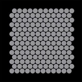 Mosaik Fliese massiv Metall Edelstahl matt in grau 1, 6mm stark ALLOY Penny-S-S-MA 0, 88 m2 - Vorschau 3