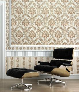 Barock Tapete XXL Vliestapete 3D EDEM 655-95 Damast Muster Textil-Optik Barocktapete grün gold creme hellbraun 10, 65 m2 - Vorschau 2