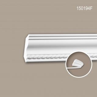 Eckleiste PROFHOME 150194F Zierleiste Flexible Leiste Stuckleiste Neo-Empire-Stil weiß 2 m