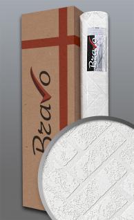 Struktur-Tapete EDEM 83102BR70 Überstreichbare Vliestapete strukturiert in Steinoptik Ziegelstein Klinker weiß | 106 m2 1 Karton 4 Rollen