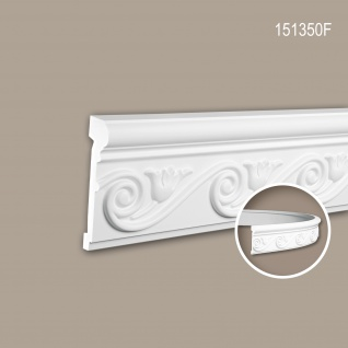 Wand- und Friesleiste PROFHOME 151350F Stuckleiste Flexible Leiste Zierleiste Neo-Empire-Stil weiß 2 m