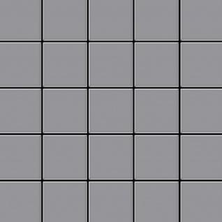 Mosaik Fliese massiv Metall Edelstahl matt in grau 1, 6mm stark ALLOY Century-S-S-MA 0, 5 m2