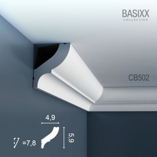 Orac Decor CB502 BASIXX 1 Karton SET mit 10 Stuckleisten Eckleisten | 20 m - Vorschau 2