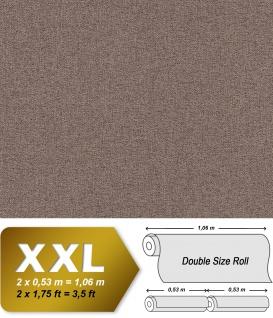 Textiloptik Tapete EDEM 9163-06 heißgeprägte Vliestapete geprägt mit Struktur schimmernd braun 10, 65 m2