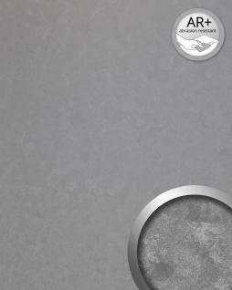 Wandpaneel Vintage Look WallFace 19337 CLASSY SILVER Wandverkleidung glatt in Metall Optik glänzend selbstklebend abriebfest silber 2, 6 m2