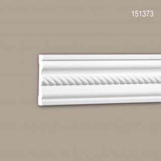 Wand- und Friesleiste PROFHOME 151373 Stuckleiste Zierleiste Friesleiste Neo-Empire-Stil weiß 2 m