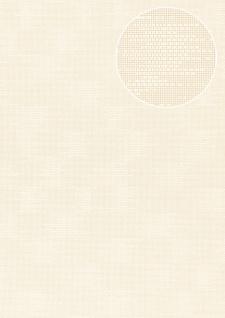 Uni Tapete Atlas COL-499-5 Vliestapete strukturiert mit Struktur matt creme creme-weiß 5, 33 m2