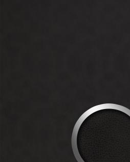 Dekorpaneel Leder Optik WallFace 19302 CHARCOAL DARK Wandpaneel glatt in Nappaleder Optik matt selbstklebend anthrazit schwarz-braun 2, 6 m2