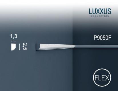 Wandleiste Stuck Orac Decor P9050F LUXXUS flexible Friesleiste Rahmen Dekor Profil Leiste Zierleiste stoßfest | 2 Meter
