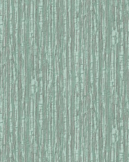 Streifen Tapete Profhome DE120084-DI heißgeprägte Vliestapete geprägt mit Streifen glänzend türkis mint silber 5, 33 m2
