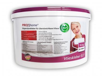 Vlieskleber Profhome Fertig-Kleber für Malervlies Renoviervlies Anstrichvlies Vlies Gewebe-Tapeten ELF 16 kg max 105 qm
