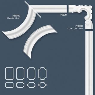 Wandleiste Stuck Orac Decor P8030C LUXXUS Eckelement Zierleiste für Friesleiste Rahmen Spiegel Profil Wand Dekor Element - Vorschau 3