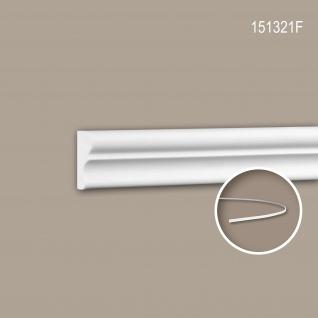 Wand- und Friesleiste PROFHOME 151321F Stuckleiste Flexible Leiste Zierleiste Neo-Klassizismus-Stil weiß 2 m